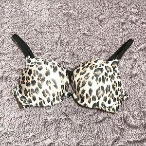 Victoria's Secret Nude Cheetah Print Push Up Bra